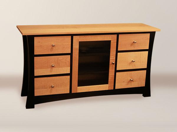 Fuji 6 Drawer U0026 1 Glass Panel Door Media Cabinet U2013 Appleton Furniture  Design Center //