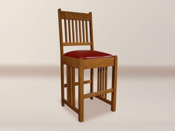 Macintosh Spindle Flat Back Upholstered Barstool