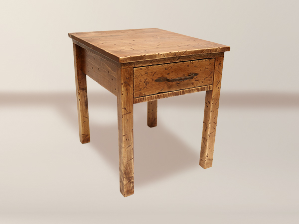 Manzana 1 Drawer Distressed End Table