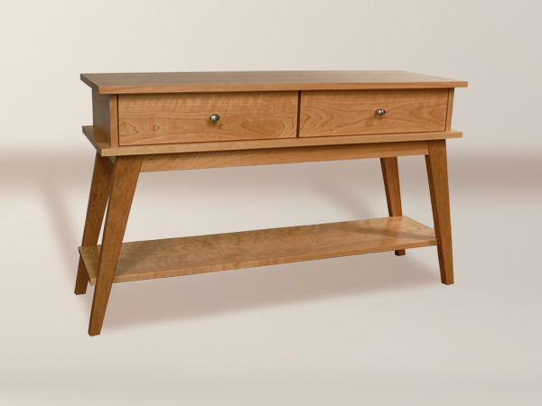 Melrose 2 Drawer Sofa Table With Bottom Shelf