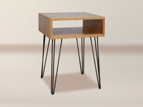 Ordinaire Melrose Open Shelf Side Table With Hairpin Legs