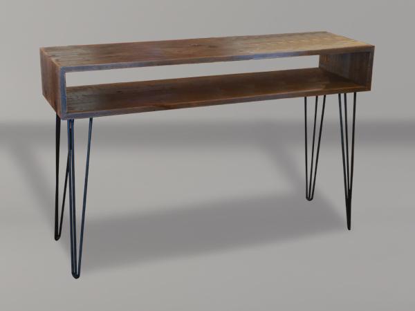 Bon Home / Sofa Tables / Melrose Open Shelf Sofa Table With Hairpin Legs