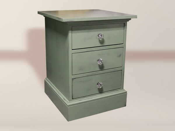 Newton 3 Drawer Side Table